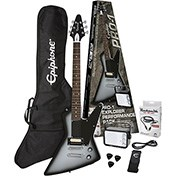 Epiphone PRO-1 Explorer Pack (Equipped with Rocksmith) Silverburst