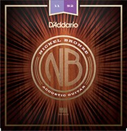 D'Addario NB1152 Nickel Bronze Acoustic Guitar Strings, Custom Light, 11 - 52