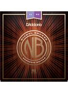 D'Addario NB1152 Nickel Bronze Acoustic Guitar Strings, Custom Light, 11 - 52