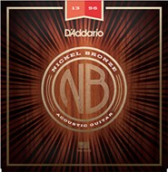 D'Addario NB1356 Nickel Bronze Acoustic Guitar Strings, Medium, 13 - 56
