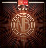 D'Addario NB1356 Nickel Bronze Acoustic Guitar Strings, Medium, 13 - 56