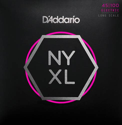 D'Addario NYXL45100, Bass Set Long Scale, Regular Light, 45-100