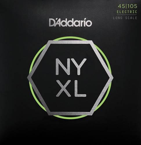 D'Addario NYXL45105, Bass Set Long Scale, Light Top / Med Bottom, 45-105