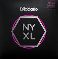 D'Addario NYXL45130 Regular Light 5 String Bass 45-130