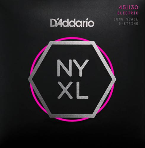 D'Addario NYXL45130 Regular Light 5 String Bass 45-130
