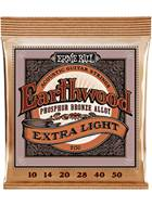 Ernie Ball 2150 Earthwood Acoustic Extra Light 10-50
