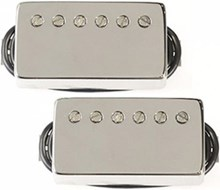 Bare Knuckle Rebel Yell Calibrated Humbucker Set, Nickel Cover, Short Leg, 4 Conductor