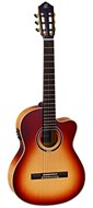 Ortega Honeysuite C/E Solid Spruce/Flamed Maple Electro Acoustic Classical
