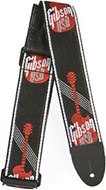 Gibson 3in Woven Strap w/ Gibson Logo-Red