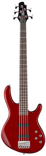 Cort Action V Plus 5 String Bass Trans Red