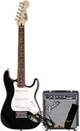 Squier Short Scale Strat SSS Starter Pack Black