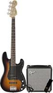 Squier Affinity Series PJ Bass Pack Brown Sunburst