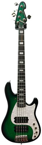 Sandberg California II VM2 Greenburst Ebony Fretboard Block Inlay 5 String Bass