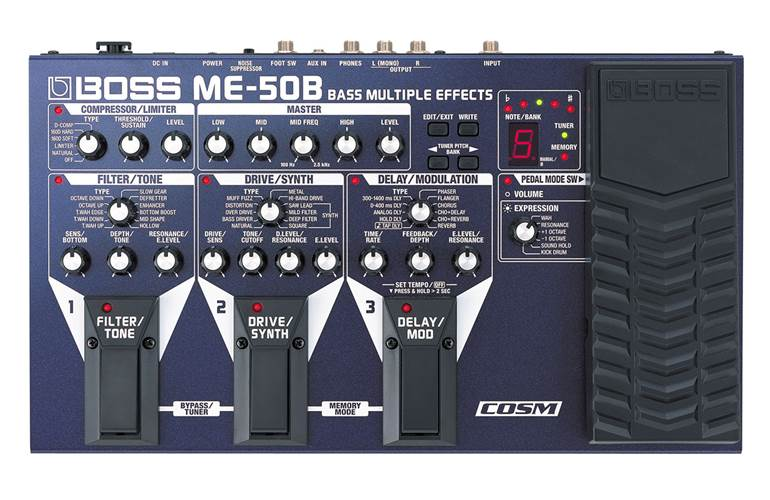 boss me 50b bass guitar multi effects floor unit. Black Bedroom Furniture Sets. Home Design Ideas