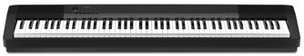 Casio CDP-130 Black Digital Piano Front View