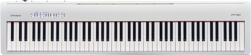 Roland FP-30 White Digital Piano