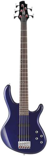 Cort Action V Plus 5 String Bass Blue Metallic