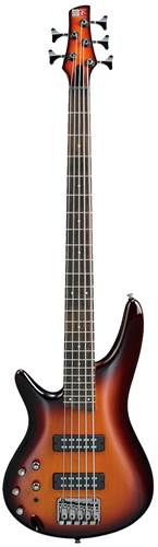 Ibanez SR375EL Left-Handed 5-String Bass Aged Whiskey Burst