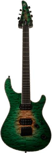 Mayones Regius 6 4A Quilt Top Satin Trans Natural Fade Green Burst Out guitarguitar Custom Build