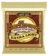 Ernie Ball 2006 Earthwood 80/20 Bronze Extra Light Guitar Strings