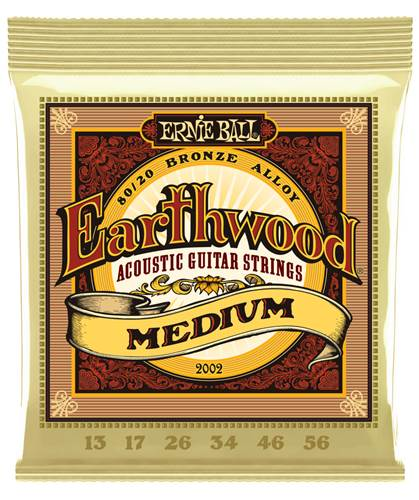 Ernie Ball 2002 Earthwood 80/20 Bronze Medium Guitar Strings
