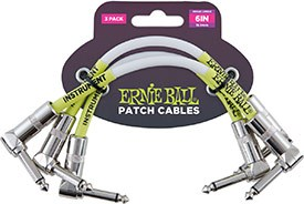Ernie Ball 6051 6 Inch Patch Cable - 3 Pack