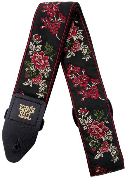 Ernie Ball 4142 Red Rose Jacquard Strap