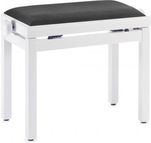 Stagg PB39 Matt White Piano Bench with Velvet Top