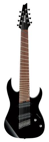 Ibanez RGMS8-BK Iron Label Multi Scale 8 String Black