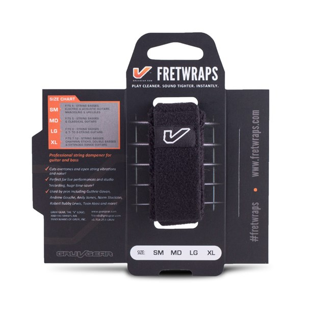 Gruv Gear FretWraps Black 1-Pack (Small)