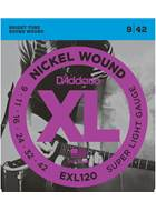 D'Addario EXL120 Super Light Electric 9-42