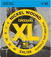 D'Addario EXL125 Super Light Top/Reg Bottom 9-46