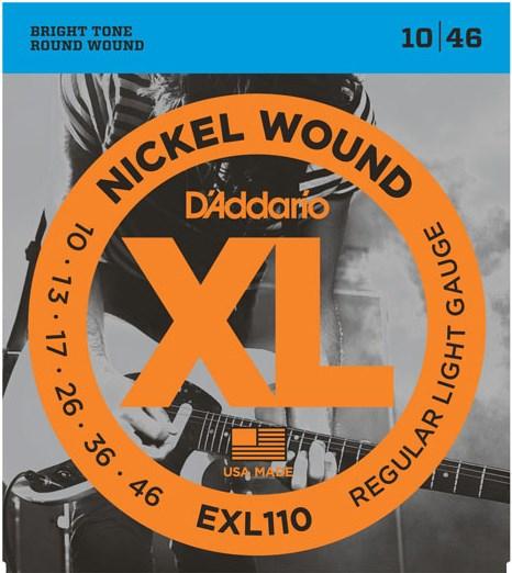 D'Addario EXL110 Regular Light Electric 10-46
