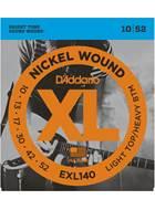 D'Addario EXL140 Light Top/Heavy Bottom 10-52