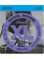 D'Addario EXL115 Blues/Jazz Rock Electric 11-49