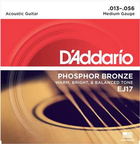 D'Addario EJ17 Medium Acoustic 13-56