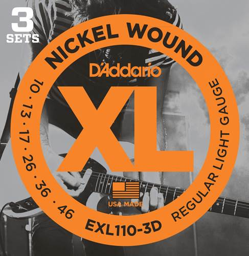 D'Addario EXL110-3D Regular Light Multi Pack 10-46