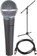Shure SM58 Microphone + XLR Cable and Stand