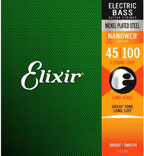 Elixir E14052 Nanoweb Bass String Set 045-100