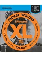 D'Addario EXL110-7 D'Addario XL Regular Light 7 String 10-59