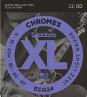 D'Addario ECG24 11-50 Chromes Flatwound