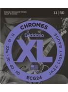 D'Addario ECG24 11-50 Chromes Flatwound
