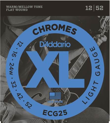 D'Addario ECG25 Chromes Light 12-52