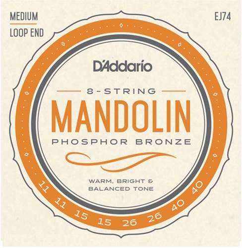 D'Addario EJ74 Mandolin Phosphor Bronze Medium