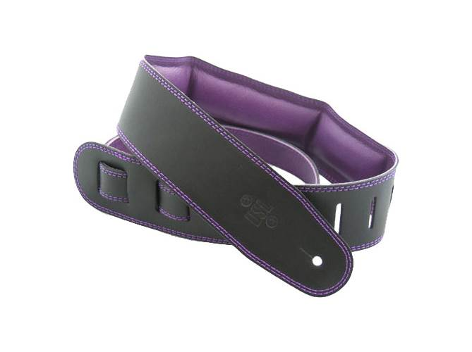 "DSL GEG25-15-9 Leather 2.5"" Black with Purple Backing"