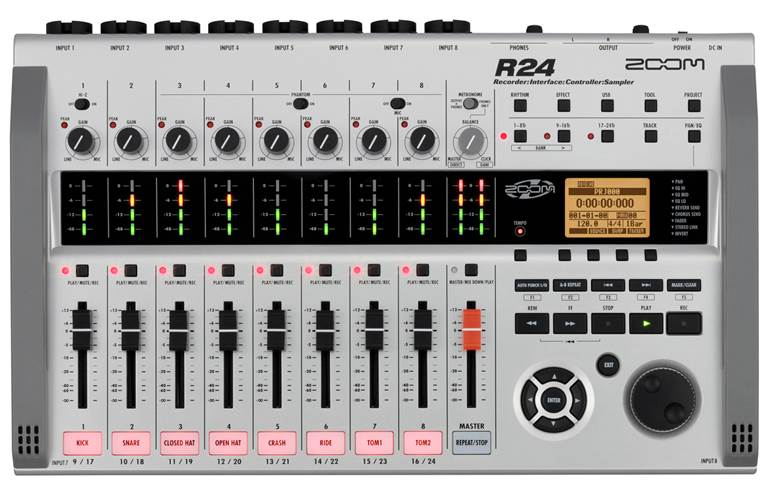 Zoom R24 Interface Recorder Sampler Controller