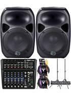Wharfedale Titan 12D Active Speaker and Alto ZMX122FX PA Bundle