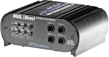 Art Dual Z Direct Stereo Passive DI Box