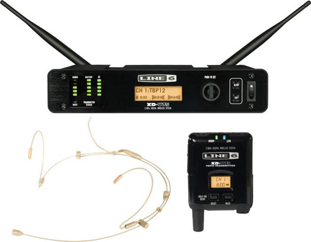 Line 6 XD-V75HS 14 Channel Digital Wireless Headphone Microphone