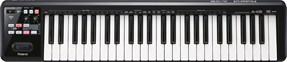 Roland A-49-BK USB MIDI Controller Keyboard Black Front View